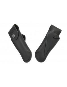 Étui cuir ceinture avec passant oblique - noir