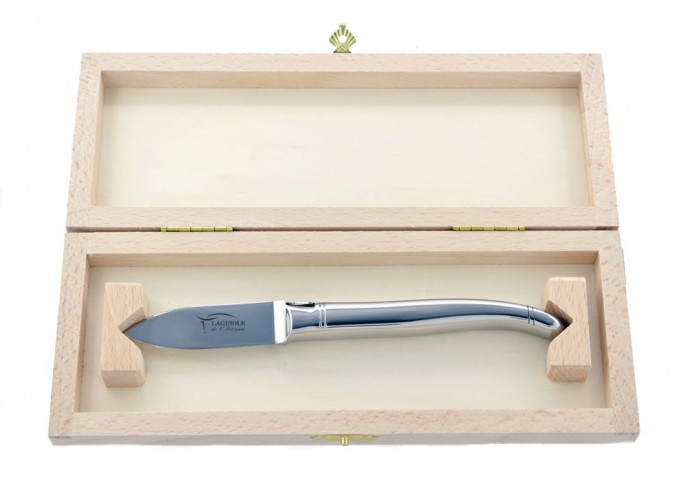 Couteau Laguiole à huître tout inox sans garde