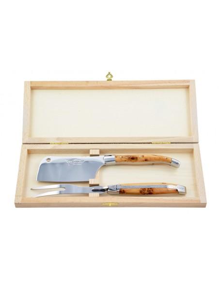 Service à fromage (fourchette & couperet) gamme prestige