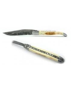 Laguiole Dent de phacochère - Damas - Ciselages limes