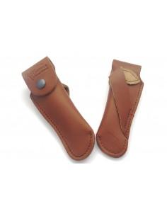 Étui cuir ceinture avec passant oblique - 12 et 13 cm