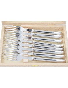 Laguiole forks, slim shiny stainless steel handle, dishwasher safe