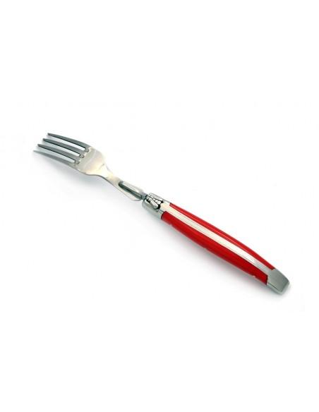 Coffret de fourchettes de table Laguiole, mitres inox brillant, manche fin en corian (couleurs panachées)
