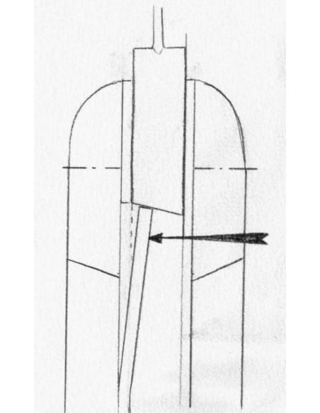 Laguiole Pliant de Chasse, 13.5 cm, plein manche, pistachier