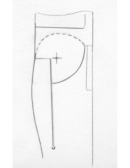 Laguiole Pliant de Chasse, 13.5 cm, plein manche, pointe de corne (claire)