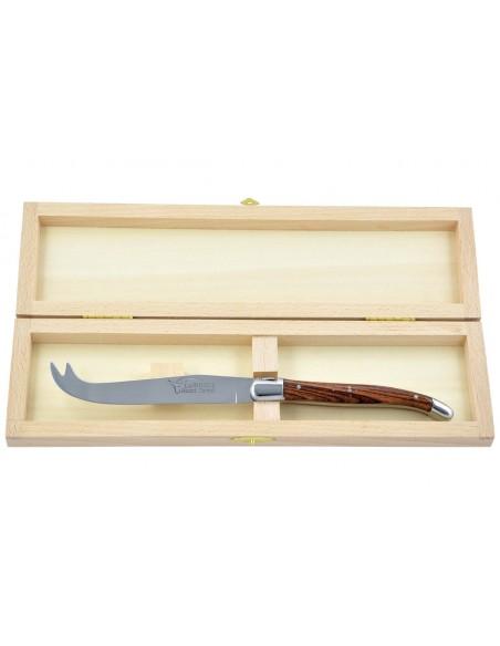 Couteau à fromage Laguiole. Finition inox brillant, manche fin en bois de violette