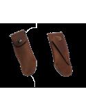 Étui cuir ceinture avec passant oblique pour couteaux de chasse 13 cm, marron