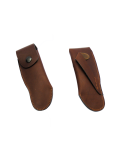 Leather sheath to wear on belt - 11 and 12 cm