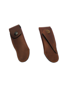 Leather sheath to wear on belt for hunting knives - 13,5 cm