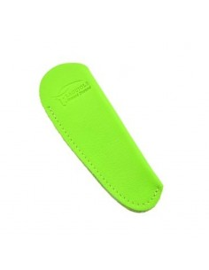 Leather pocket sheath with molded logo - Green