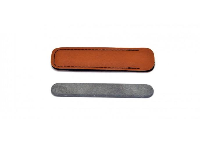 Pierre à ongles avec étui, 10 cm