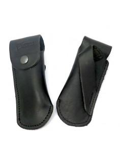 Étui cuir ceinture avec passant oblique pour couteaux de chasse 13 cm, noir