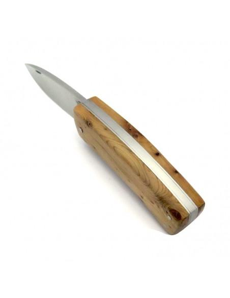 Laguiole Jagdmesser custom, 9 cm,Voller Griff aus Wacholderholz
