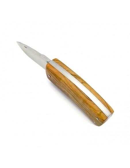 Laguiole Jagdmesser custom, 9 cm,Voller Griff aus Olivenholz