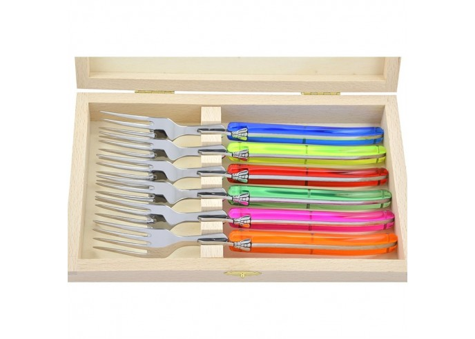 Laguiole forks. Full handle in fluo...