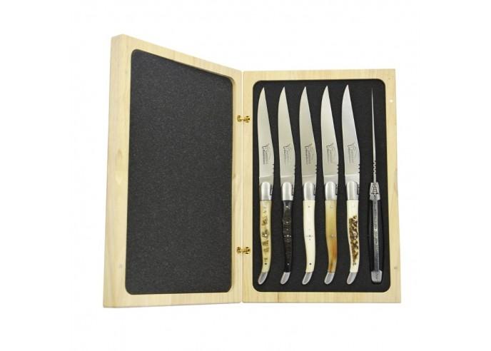 Laguiole steak knives with matt...