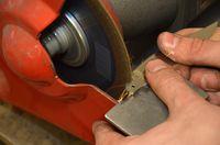 Préparation du talon de la lame
