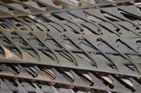 Chutes d'acier aprés découpe de lames