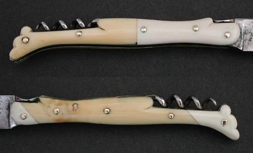 Couteau Laguiole Greffes en dent de phacochère