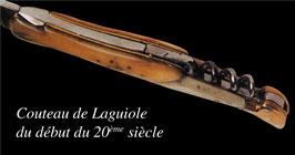 Couteau Laguiole début vingtième siècle