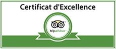 Certificat d'excellence TripAdvisor de la Coutellerie de Laguiole Honoré Durand